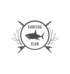 surfing club logotype vector image