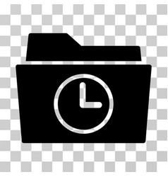 Temporary folder icon vector