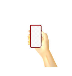 theres a smartphone in my hand mobile display vector image