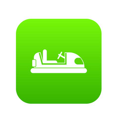 toy car icon digital green vector image
