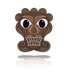 Traditional Hawaiian mask vector image