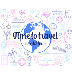 trip banner design concept flat style with vector image
