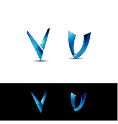 v letter design vector image