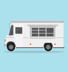 white fast food trailer vector image