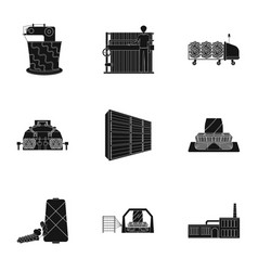 Wool tangle machine and other web icon in black vector