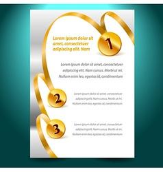blank design template certificate ribbon award vector image vector image
