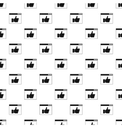 Computer monitor with like button pattern vector