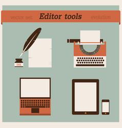 editor tools vector image