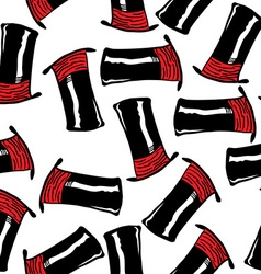 top hat pattern vector image vector image