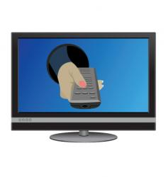 tv control vector image vector image