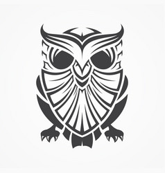vintage tribal owl vector image vector image