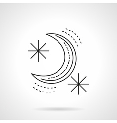 Crescent flat line design icon vector image vector image