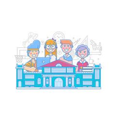 cute school children school activities back to vector image