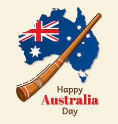 happy australia day design national flag vector image vector image
