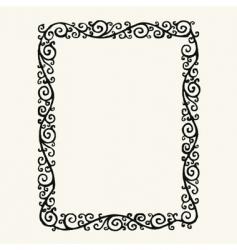 swirl frame vector image