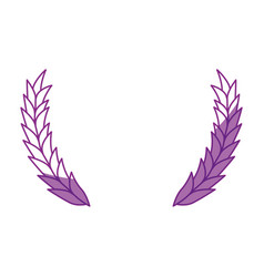 wheat ears icon vector image vector image
