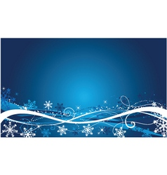 winter abstract vector image
