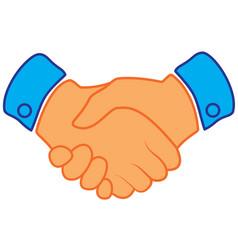 Business handshake contract agreement flat icon vector