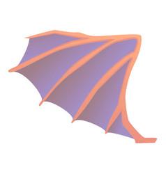 dragon wing icon cartoon style vector image