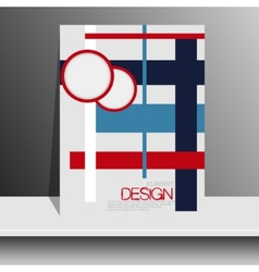 Magazine cover with pieces of colored PaperFor vector image