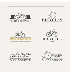 Set of simple logos for bicycles vector image