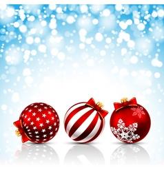 Christmas bals vector image vector image