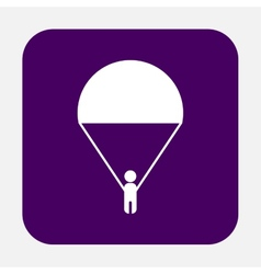 man on a parachute vector image