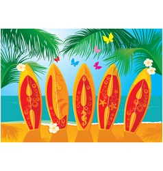 Summer Holiday Postcard vector image
