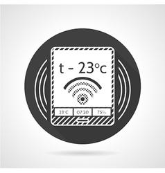 Thermostat black round icon vector image