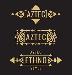 tribal aztec mexican ornaments vector image vector image