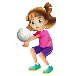 A female volleyball character vector