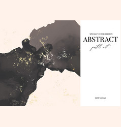 Abstract luxury golden shape painting in grey vector