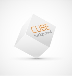 Abstract white cube background vector