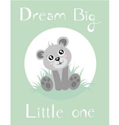 Baby bear babygreen vector