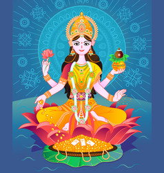 Banner laxmi of indian vector