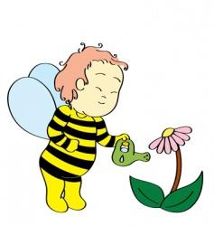 Bee boy vector