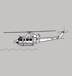 bell ch-146 griffon vector image