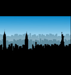 Building usa scenery of silhouettes vector