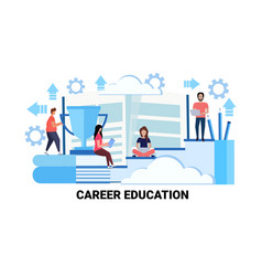 business people training courses career education vector image