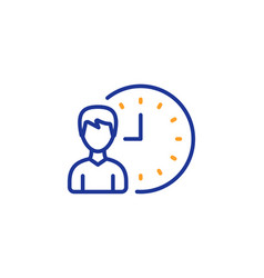business project deadline line icon vector image