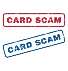 Card Scam Rubber Stamps vector