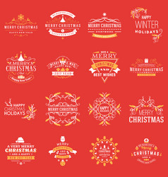 Christmas decoration elements merry vector