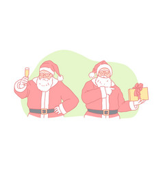 christmas new year holiday santa claus concept vector image