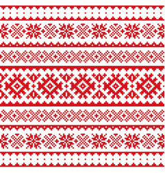 christmas winter seamless pattern sami vector image