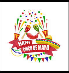 cinco de mayo an inscription with a wish for vector image
