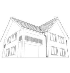 cottage on the white background vector image