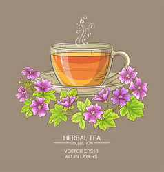 cup of malva tea vector image