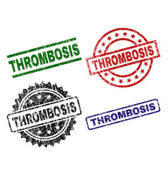 damaged textured thrombosis stamp seals vector image