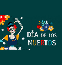 day dead mexican poster vector image