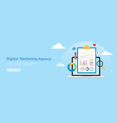 digital marketing agency banner website template vector image